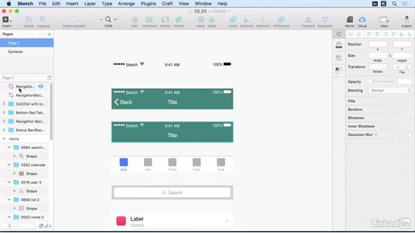 Symbols: Learn Sketch: Mobile Design Workflows