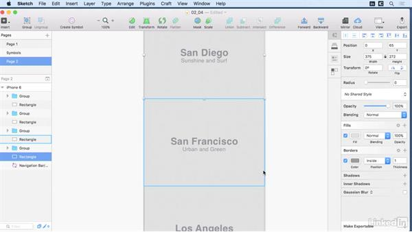 Home screen layout: Learn Sketch: Mobile Design Workflows