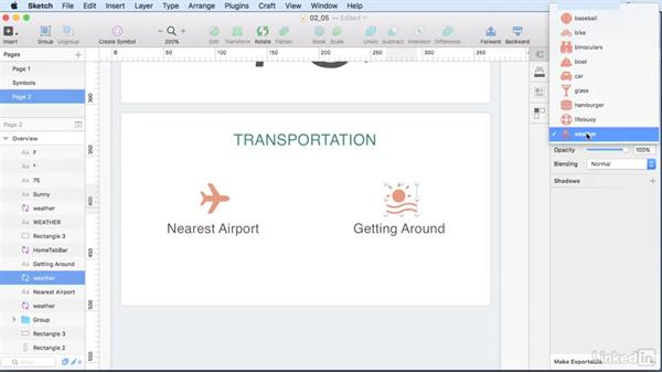 Overview screen layout: Learn Sketch: Mobile Design Workflows