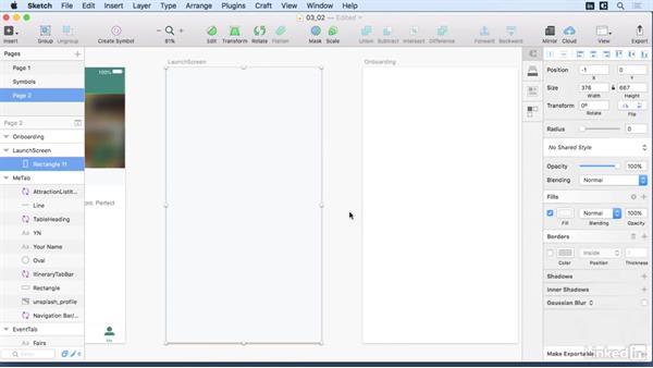 Onboarding and launch screen: Learn Sketch: Mobile Design Workflows