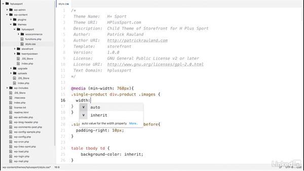 Resize image column width: WordPress: Customizing WooCommerce Themes
