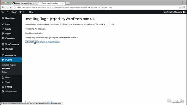 Add social media icons: WordPress: Customizing WooCommerce Themes