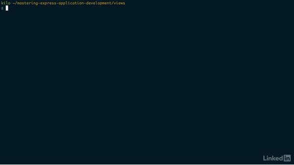 Installing and using Nunjucks: Mastering Express Web Application Development