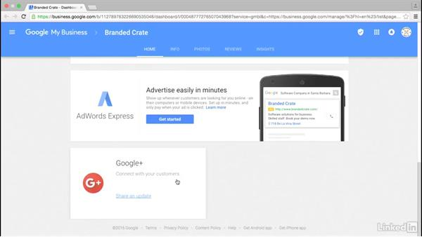 Use the Google My Business interface: Local SEO