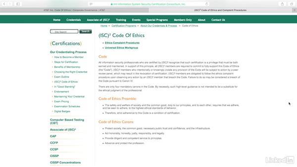 Ethics: CISSP Cert Prep: 1 Security and Risk Management