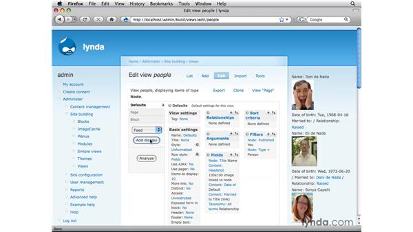 Adding view displays as pages, blocks, and RSS feeds: Drupal 6: Online Presentation of Data