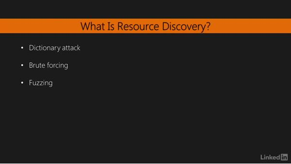 What is resource discovery?: Learning Python Web Penetration Testing