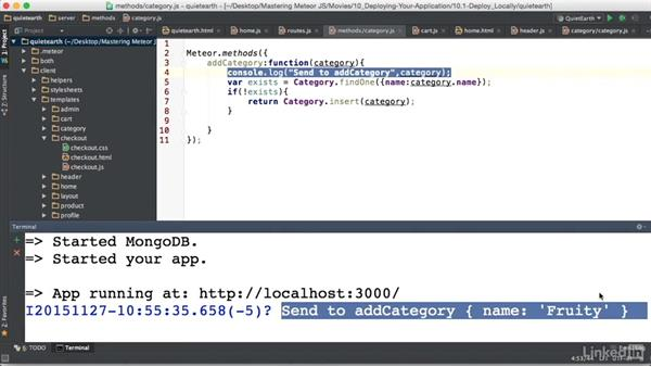 Server debugging: Mastering Meteor: Powerful Reactive Applications with Full-Stack JavaScript