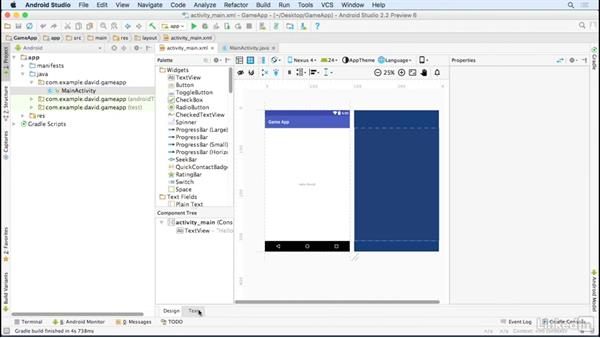 Create a starting Android project: Building a Game App with the Android SDK