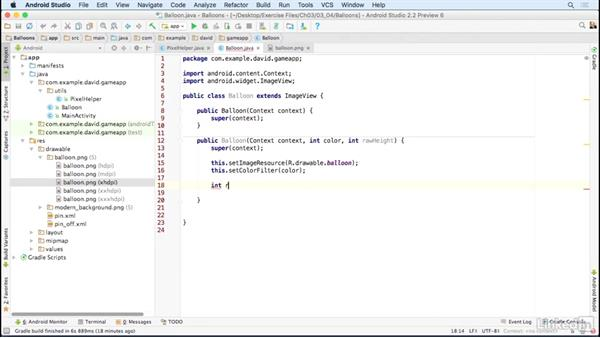 Implement visual objects as Java classes: Building a Game App with the Android SDK
