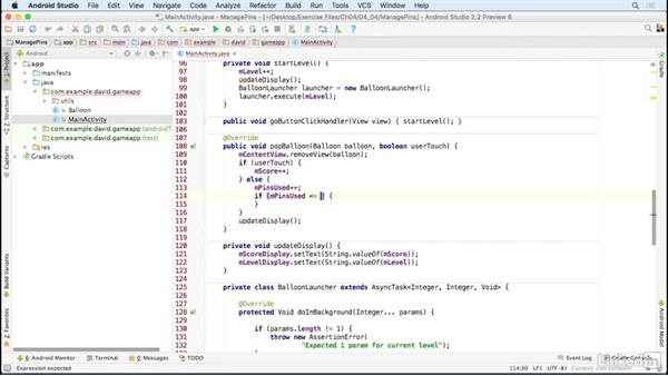 Manage limited gaming resources: Building a Game App with the Android SDK
