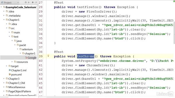 Inspecting the web elements: Mastering Selenium Testing Tools
