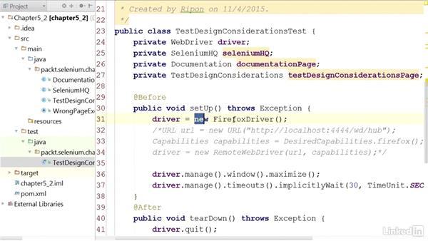 Running tests on the Selenium Server internally: Mastering Selenium Testing Tools