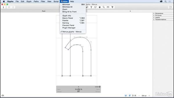Menus: Glyphs App Essential Training