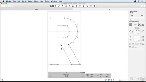 Drawing letterforms in Glyphs: Glyphs App Essential Training