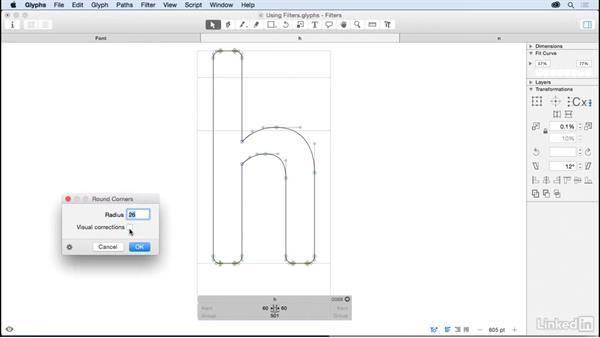 Using filters: Glyphs App Essential Training