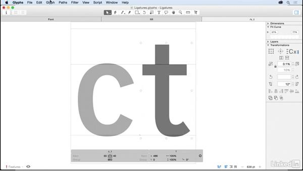 Ligatures: Glyphs App Essential Training