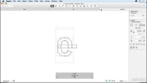 Stylistic sets: Glyphs App Essential Training
