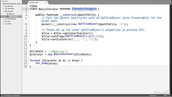 Create an iterator: PHP: Advanced Topics