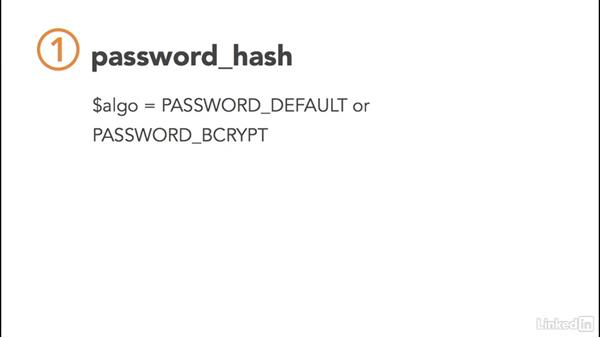 PHP password hashing: PHP: Advanced Topics