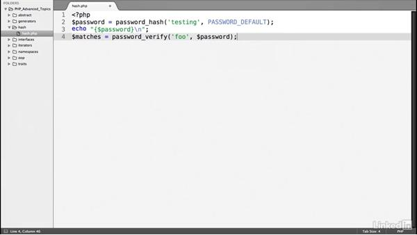 PHP password verification: PHP: Advanced Topics