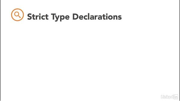 PHP strict type declarations: PHP: Advanced Topics
