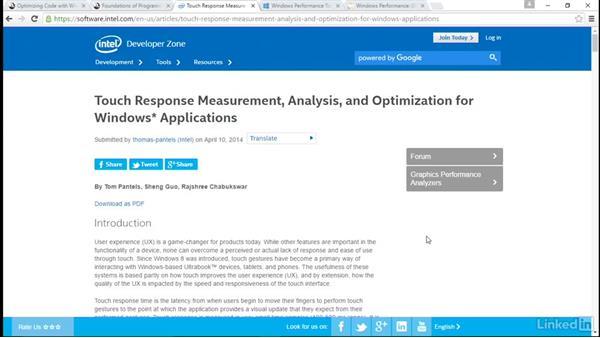 Next steps: Windows Performance Toolkit: CPU Analysis