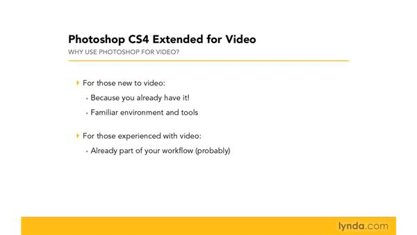 Why use video with Photoshop?: Photoshop CS4 Extended for Video