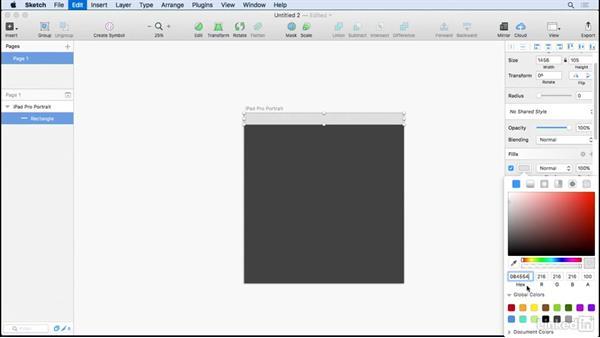 Color styles: UX Design Tools: Sketch