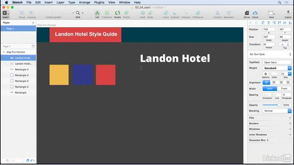 Text styles: UX Design Tools: Sketch