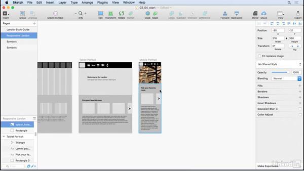 Plugging in visual design: UX Design Tools: Sketch