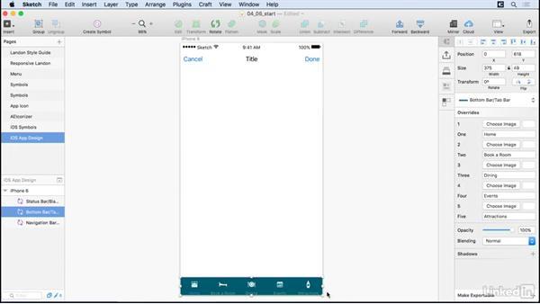iOS navigation assets: UX Design Tools: Sketch