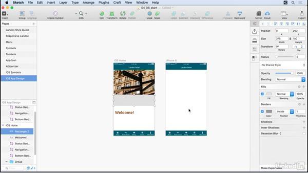 iOS screens: UX Design Tools: Sketch