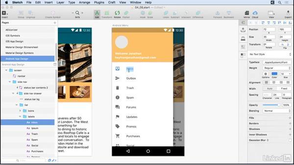 Android navigation assets: UX Design Tools: Sketch