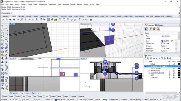 Dealing with skewed geometry: Rhino: Architectural Interior & Detail