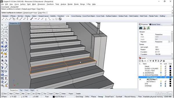 Introduction to stairs with landings: Rhino: Architectural Interior & Detail