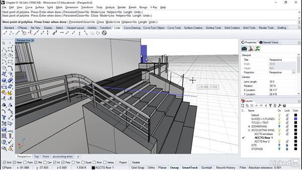 Making stair railings