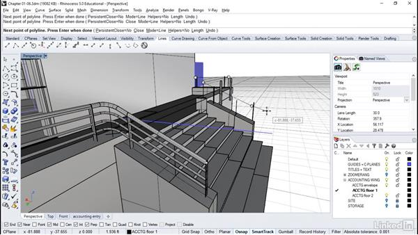 Making stair railings: Rhino: Architectural Interior & Detail