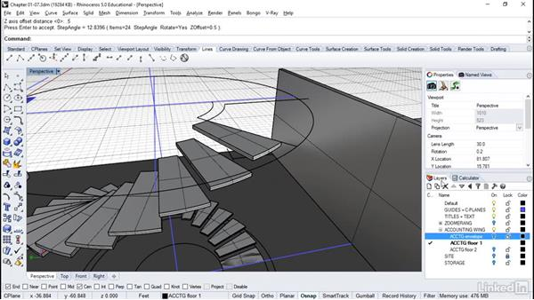 Building spiral stairs: Rhino: Architectural Interior & Detail