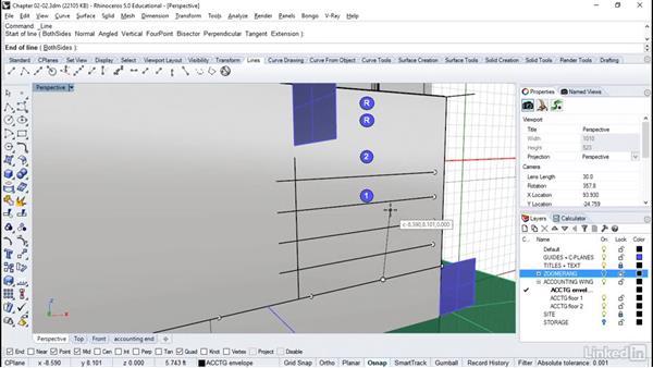 Alignment on exterior walls: Rhino: Architectural Interior & Detail