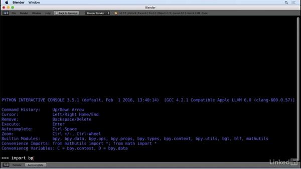 Welcome: Python Scripting for Blender