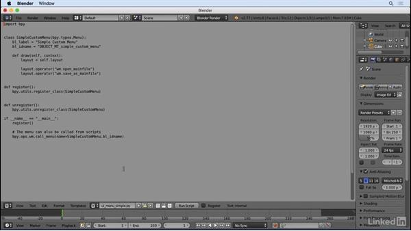 Write scripts and use templates: Python Scripting for Blender