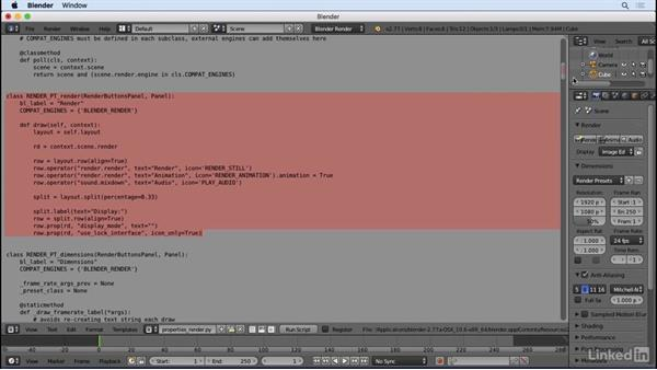 Great coders steal: Python Scripting for Blender