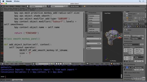 Appending to a menu: Python Scripting for Blender