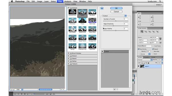 Using filters on video layers: Photoshop CS4 Extended for Video