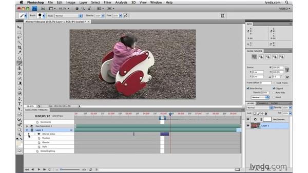 Working with altered video: Photoshop CS4 Extended for Video