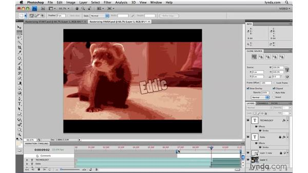 Rasterizing video: Photoshop CS4 Extended for Video