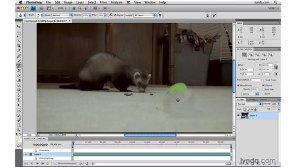 Using the healing tools on video: Photoshop CS4 Extended for Video