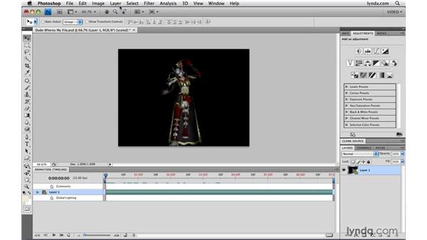 Relinking footage: Photoshop CS4 Extended for Video