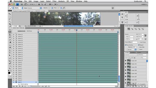 Flattening frames into layers: Photoshop CS4 Extended for Video